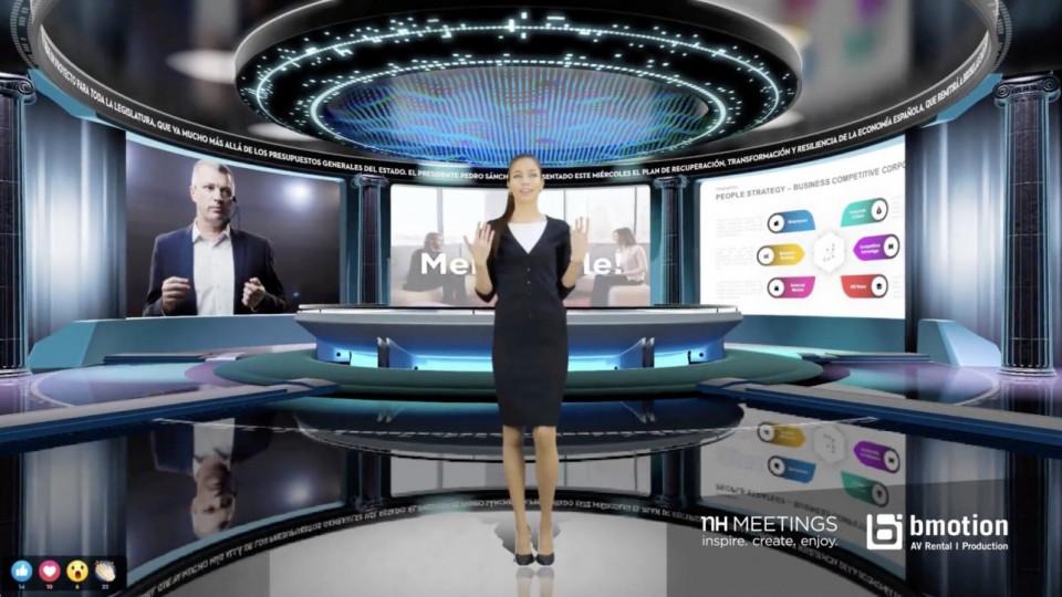 NH Hotel Group y BMOTION Audiovisual presentan  su nueva propuesta de platós fijos para eventos MICE